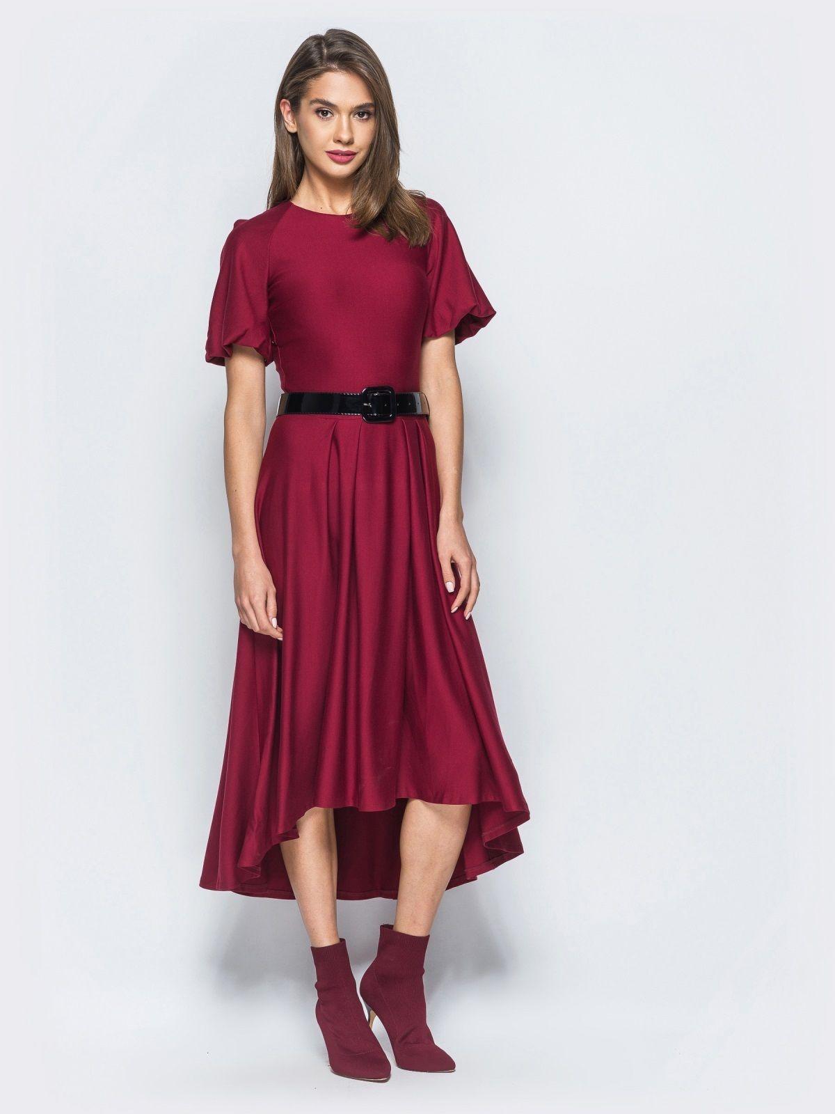 78bdad19c8d95cc Ошатне плаття-міді з асиметричною спинкою 44   Гардероб   Сукні ...