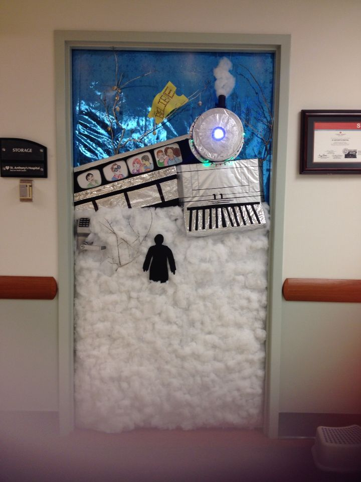 Polar Express Classroom Decoration Ideas ~ Polar express door decorating contest