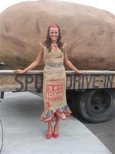 Another Potato Sack Dress Option Burlap Sack Dress Sack Dress