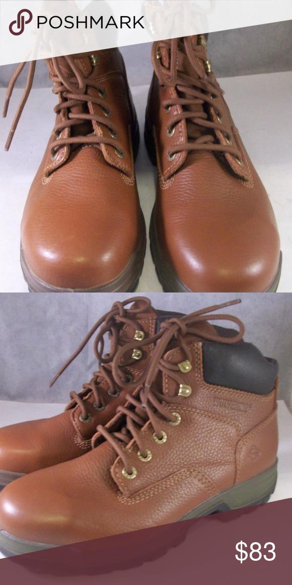f6a2e57084e WOLVERINE MEN S 6  STEEL TOE WATERPROOF BOOT EW WOLVERINE MEN S 6  STEEL  TOE WATERPROOF BOOT (W08308) BROWN 9 MEDIUM retails  125 Wolverine Shoes