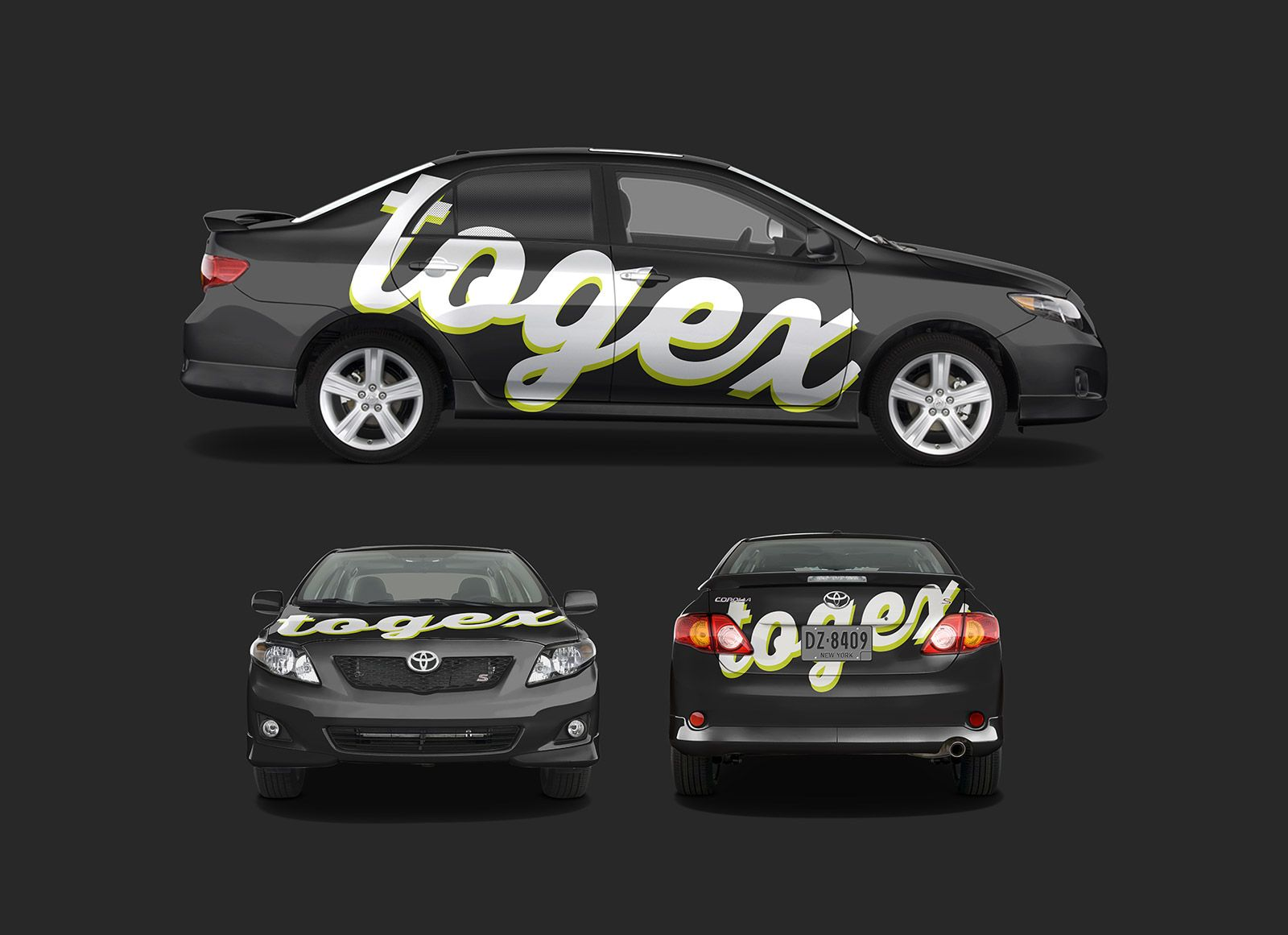 Free Toyota Corolla Car Branding Mockup Psd In 2021 Toyota Corolla Branding Mockups Corolla Car