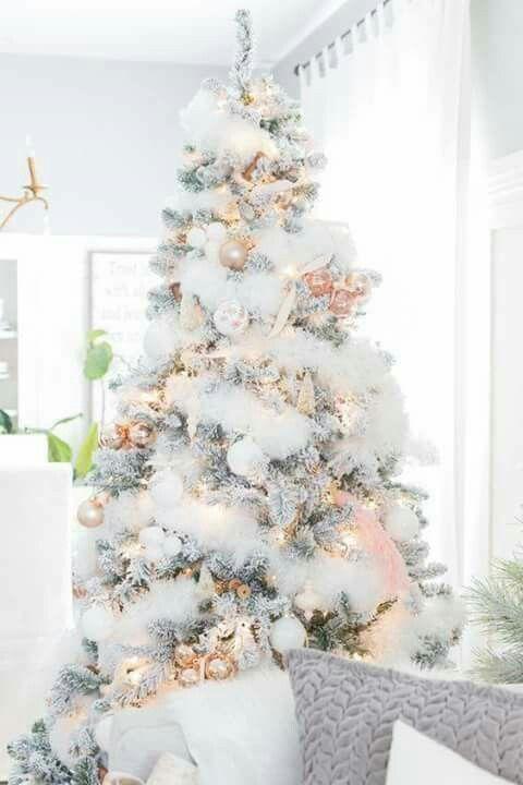 Christmas Tree Ideas White White Christmas Decor Rose Gold