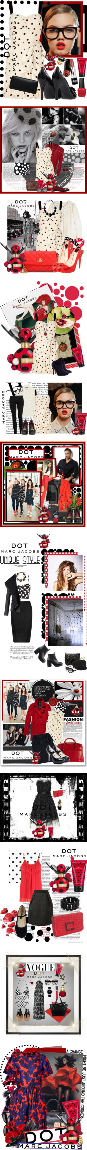"""""""Marc Jacobs Dot"""" by carlakay ❤ liked on Polyvore"""
