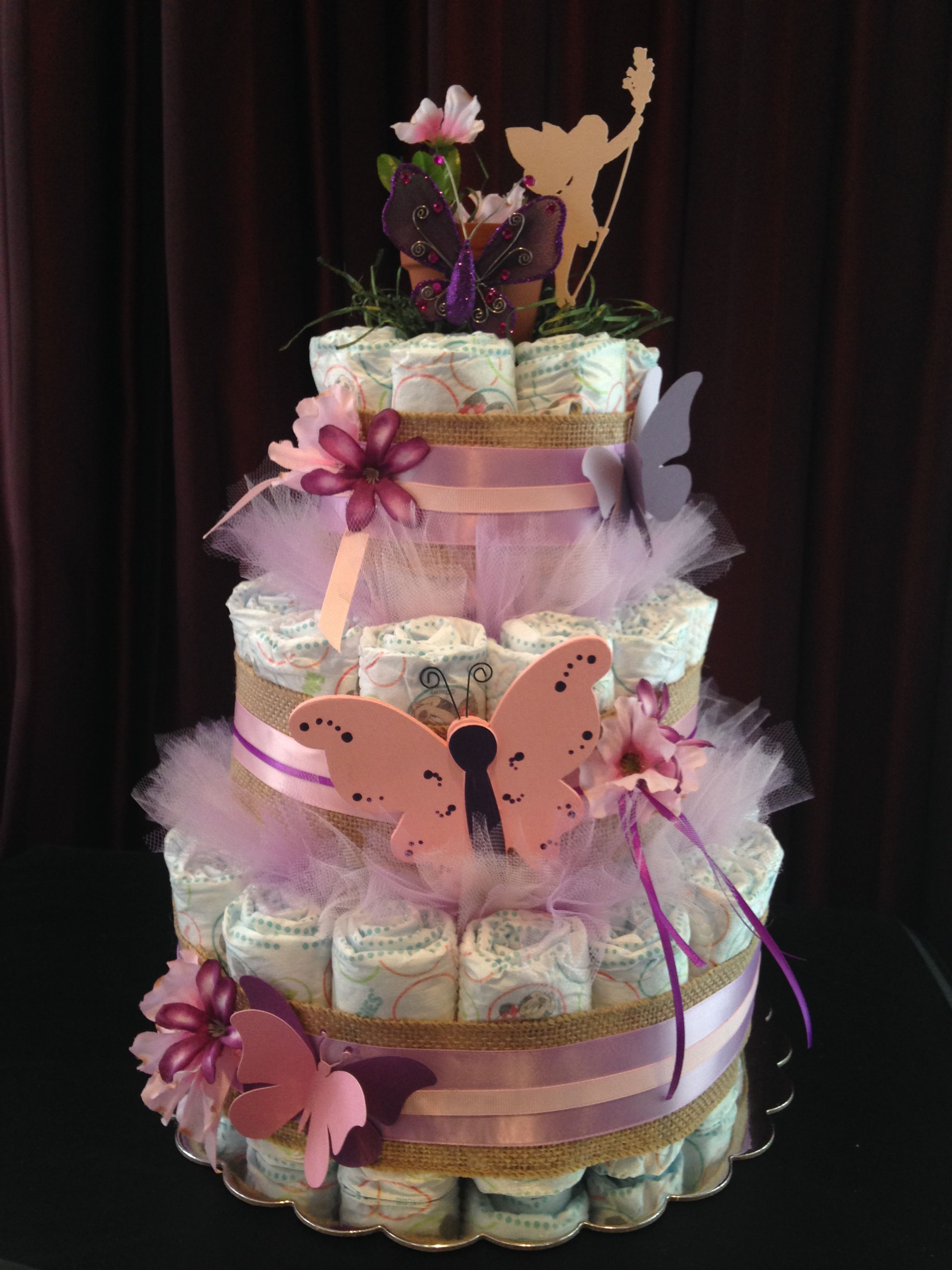 Fairy Butterfly Diaper Cake Fairy Baby Showers Fairytale Baby
