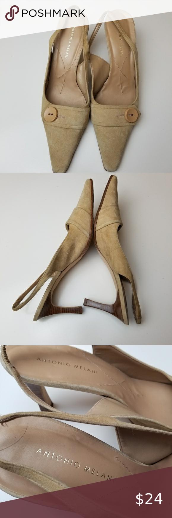 Antonio Melani Slingback Heels Size 10 In 2020 Slingback Heel Shoes Women Heels Heels