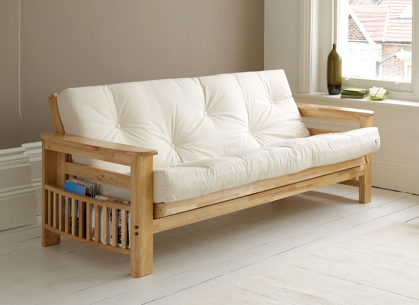 Vegas Hardwood 3 Seater Futon Sofa Bed Available From Our Online Www Futons Direct Co Uk