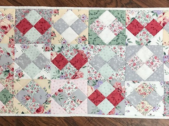 How To Make A Four Patch On Point Quilt Block Using Charm Squares