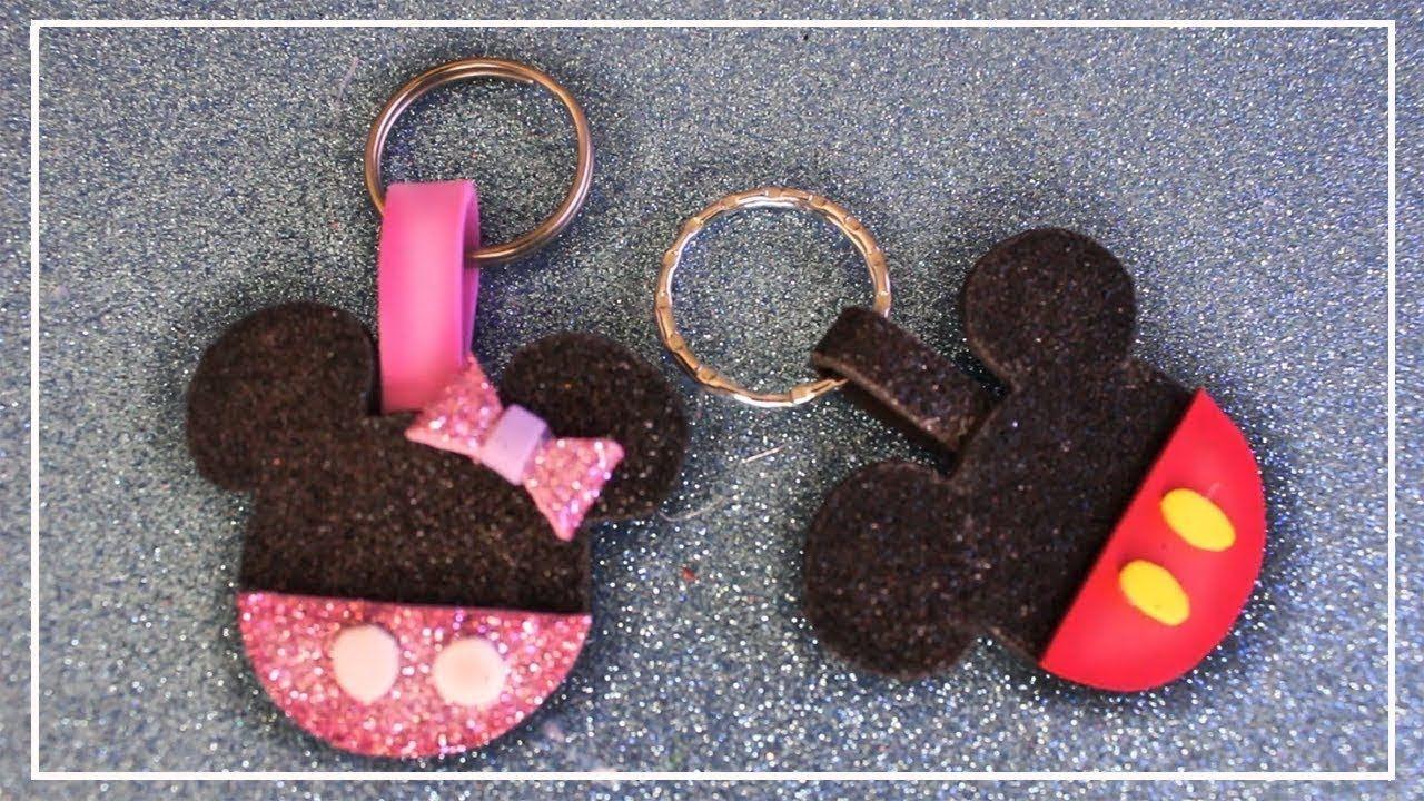 Llaveros De Mickey Mouse Y Minnie Mouse En Goma Eva Llaveros De Mickey Llaveros En Goma Eva Souvenirs En Goma Eva Souvenirs Minnie