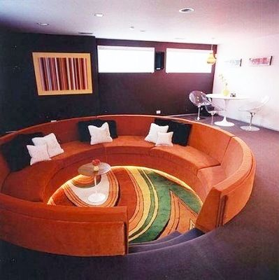 Late 60s Early 70s Conversation Pit Mmmm Orange And