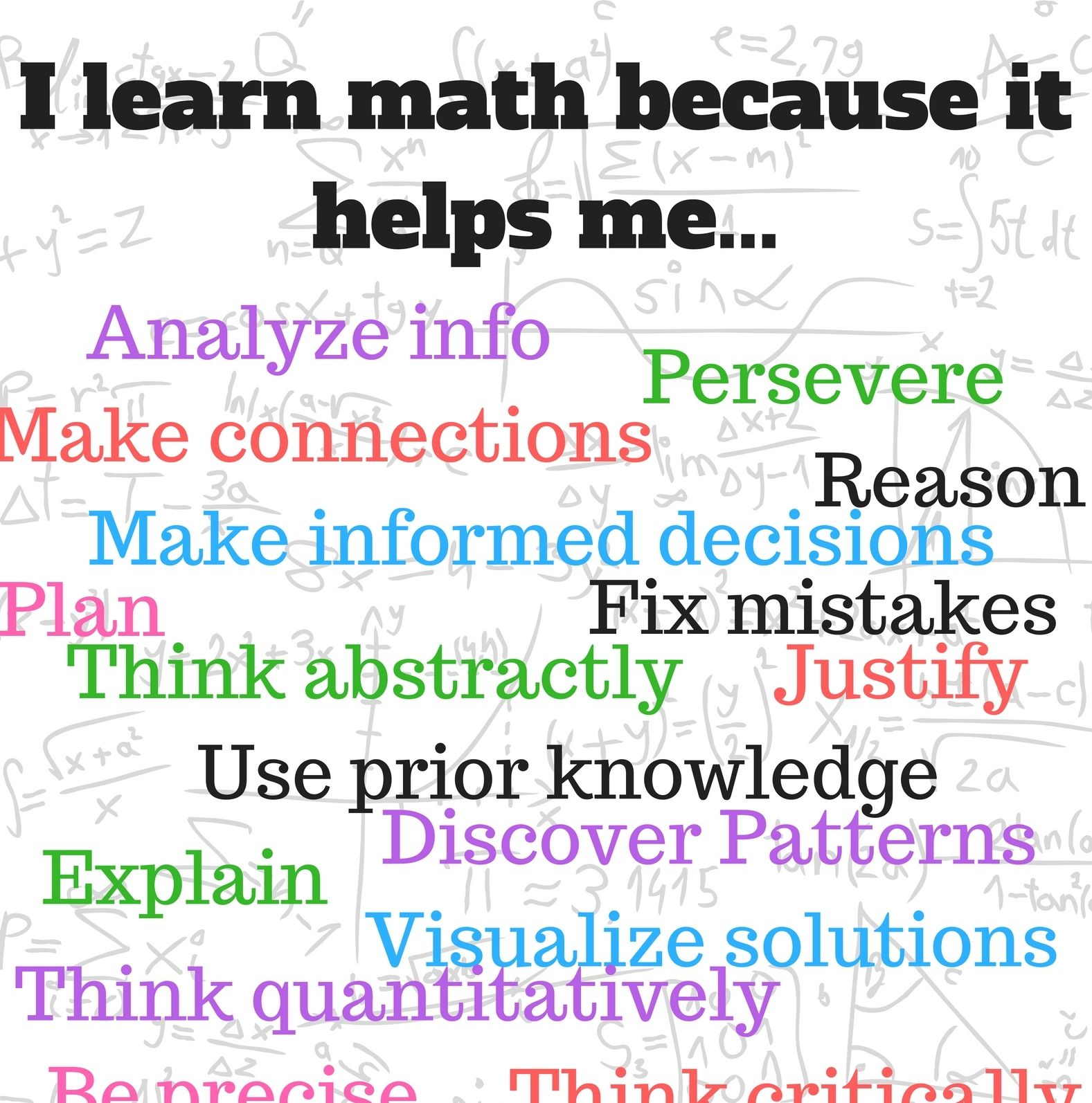 Why do we have to learn math? | Math | Math, Math lessons ...