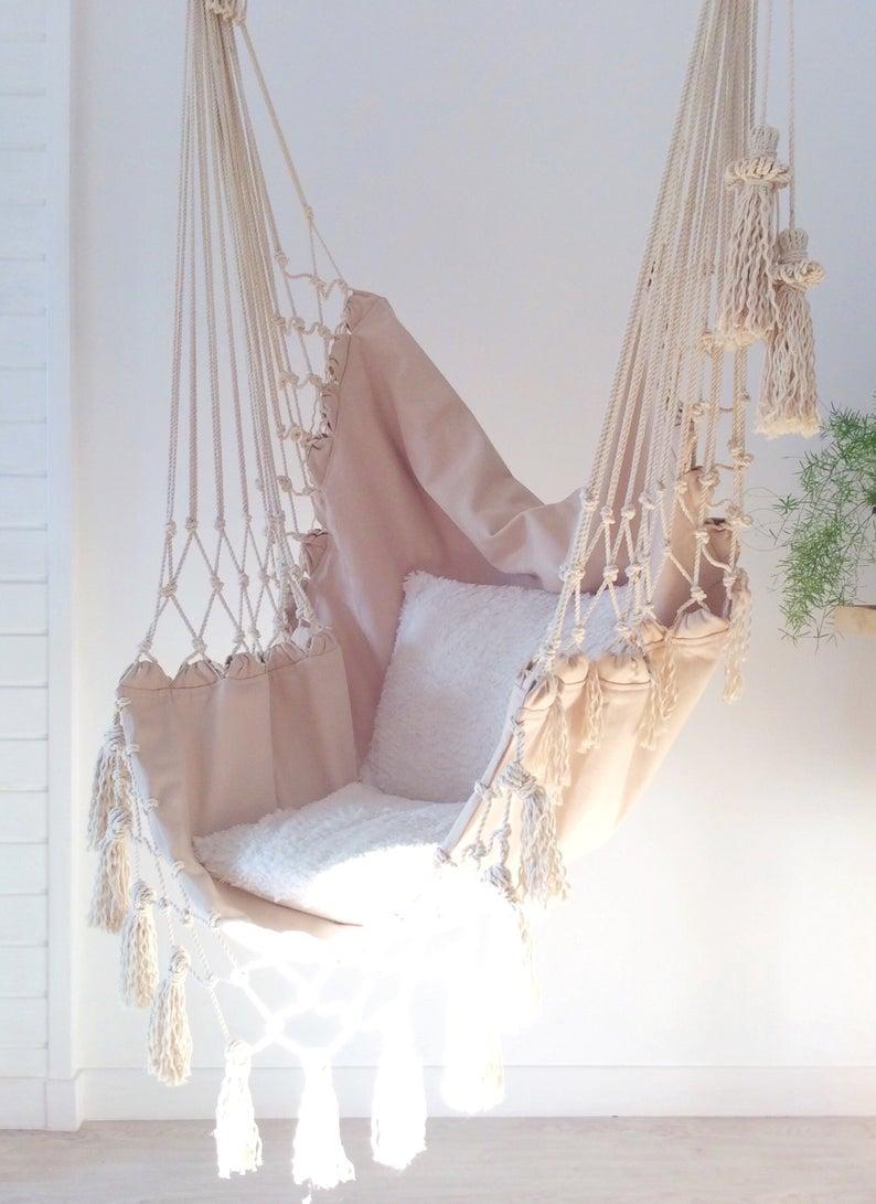 Hammock. Hammock chair. Boho hammock. Rocking-chair with macrame. Macrame hammock. Swing. Macrame sw