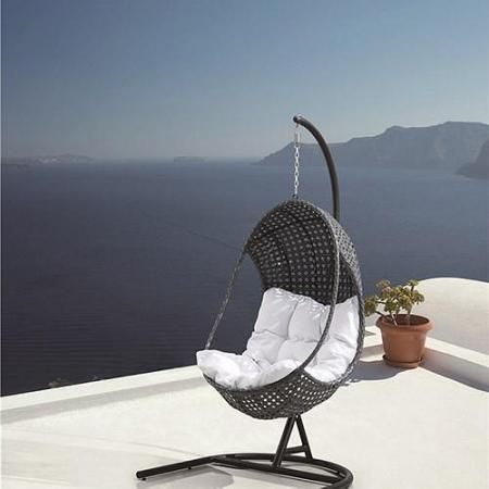 blueys hanging egg pod chair outdoor living pinterest pod