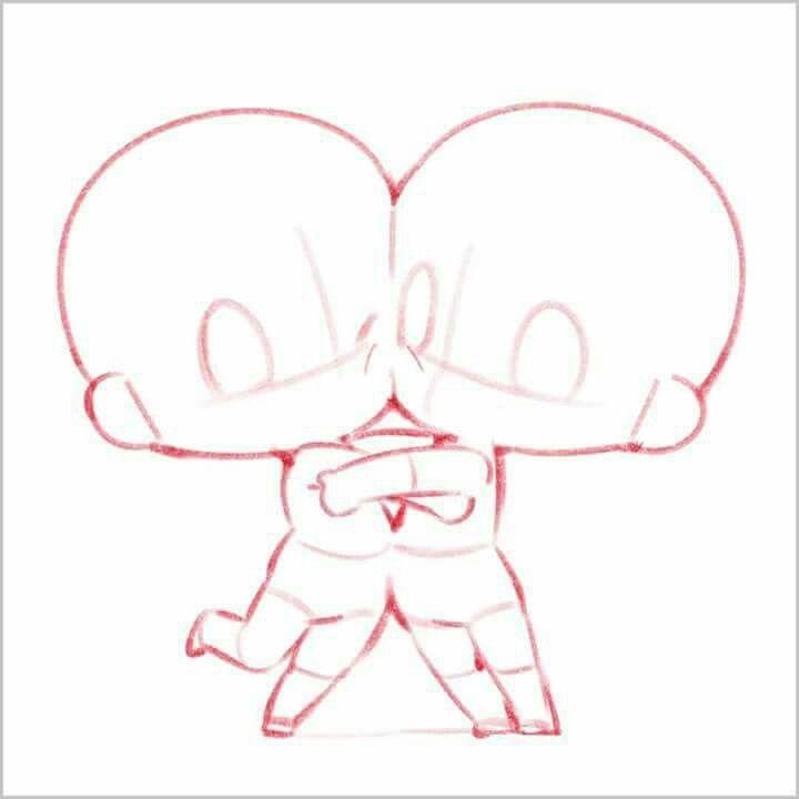 Pin By Rhaella On How To Draw Chibi Sketch Chibi Drawings Drawing Base