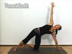 This pose strengthens the core as well as the arms and wrists