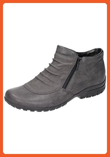 Rieker womens bootee extra wide grey size 39.0 EU - Boots for women (*Amazon Partner-Link)