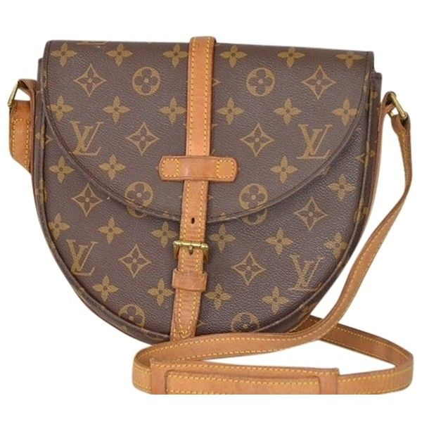 2c67a1dedec7 Pre-owned Louis Vuitton Monogram Canvas Leather Chantilly Gm Brown...  ( 400) ❤ liked on Polyvore featuring bags