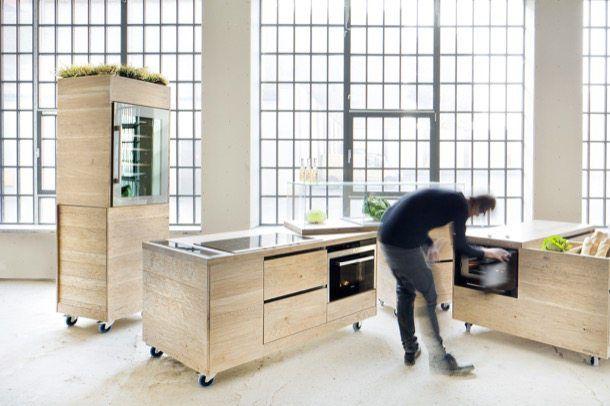 FoodLab II: muebles de cocina modulares y móviles. Studio Rygalik es ...