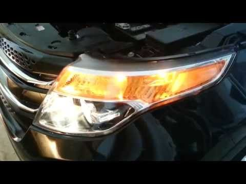 Ford Explorer Headlight Assembly Testing Bulbs Low High Beam Turn Signal Side Marker Youtube