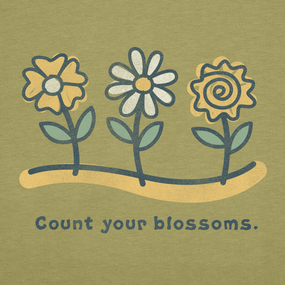 Women's Count Your Blossoms Short Sleeve Crusher Tee