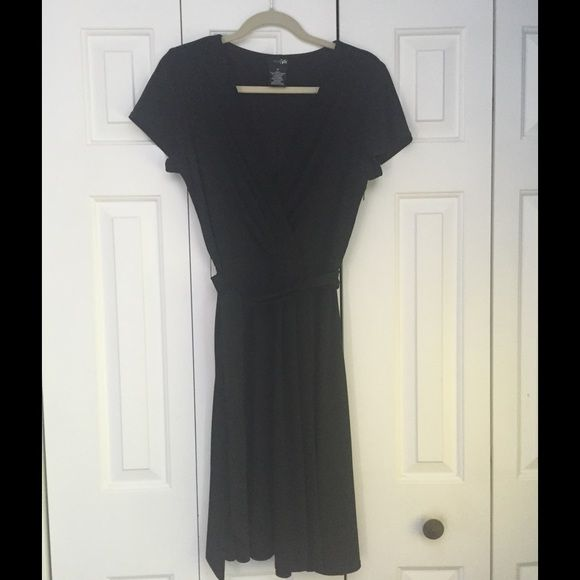 Perfect  LBD!  Surplice top with tie waits LBD barely worn. very versatile style East 5th Dresses