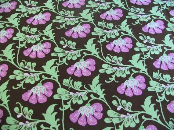 Amy Butler Daisy Chain Collection - Sweet Jasmine in Brown