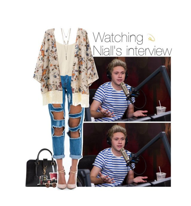 """Watching Niall's interview"" by talitastyles ❤ liked on Polyvore featuring Payne, Yves Saint Laurent, NARS Cosmetics, Illesteva, Nookie, women's clothing, women's fashion, women, female and woman"