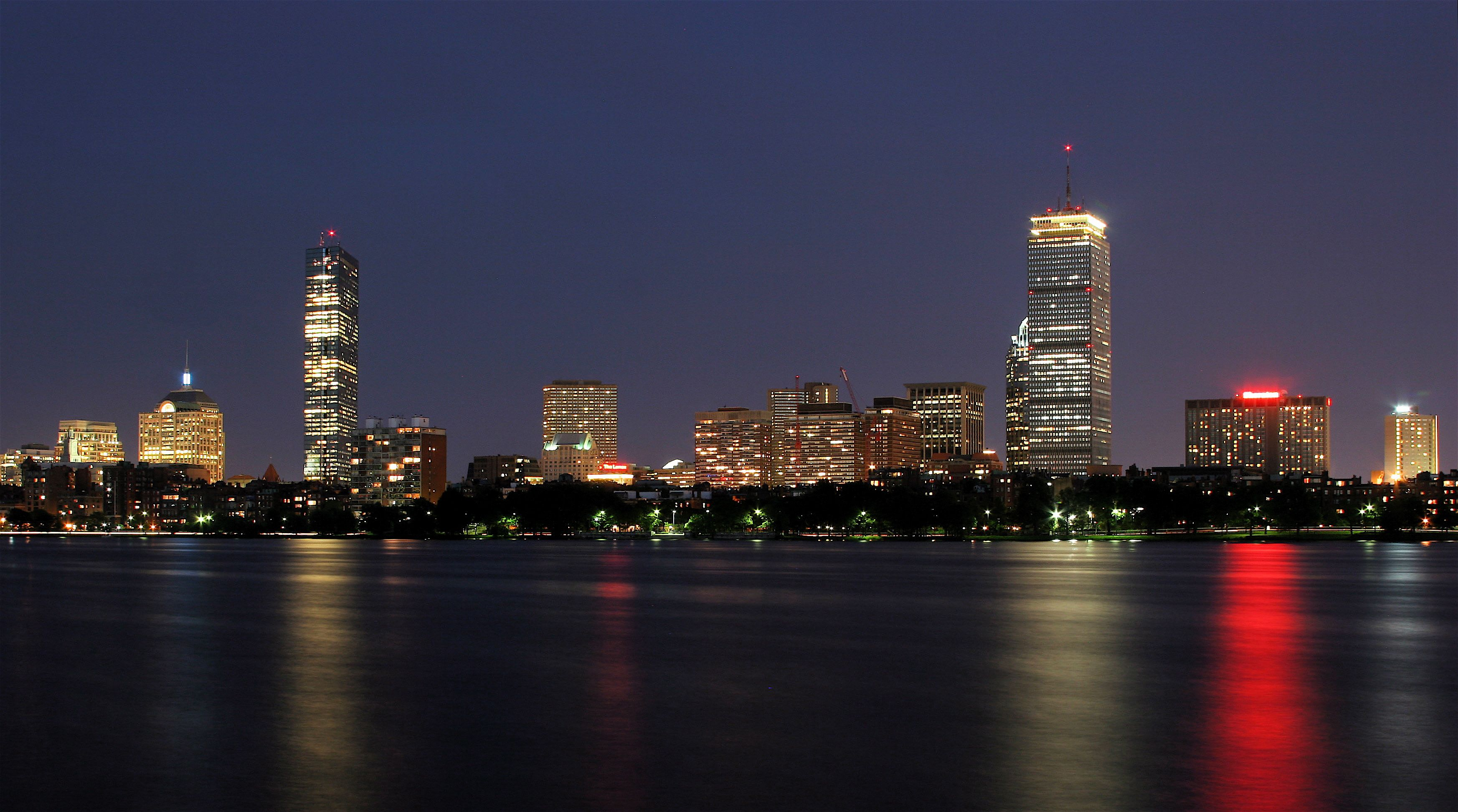 Boston Skyline As Seen From Cambridge Jpg 3491 1945 Boston Skyline Skyline Boston Things To Do