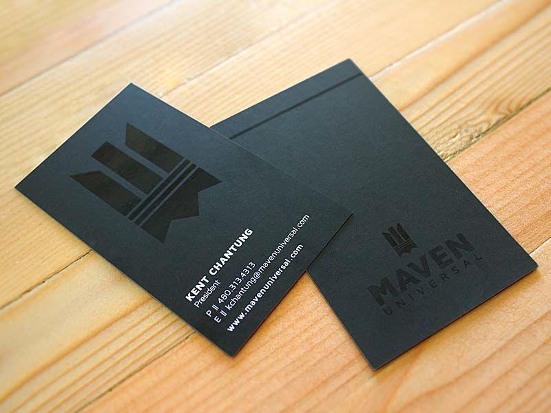 TJA designed Business Cards. Maven Universal. mavenuniversal.com ...