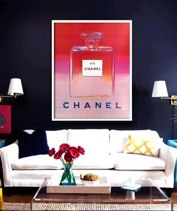 Andy Warhol Chanel No.5 Poster PRINTABLE FILE - Chanel poster ...