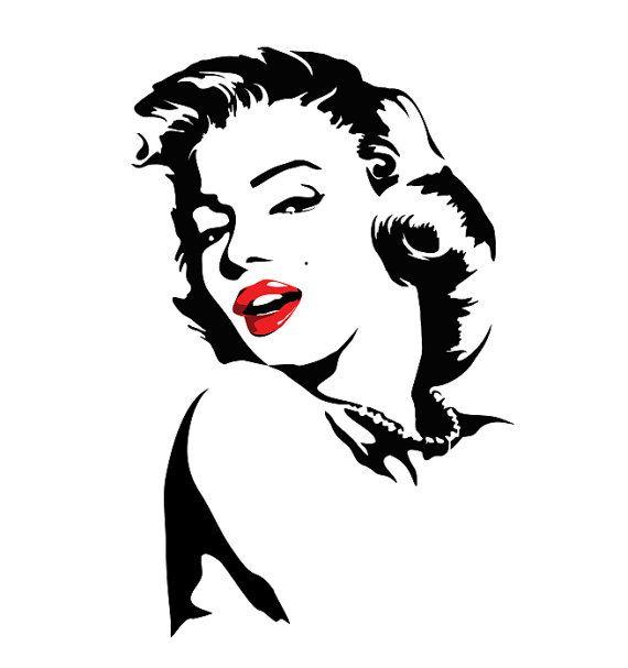 Marilyn monroe decals, marilyn monroe decals for walls, wall decals, custom wall decals, personalized decals, marilyn monroe wall art, decal