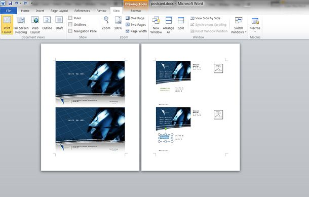 Make Your Own Postcards Using Microsoft Word Upload A Photo Edited
