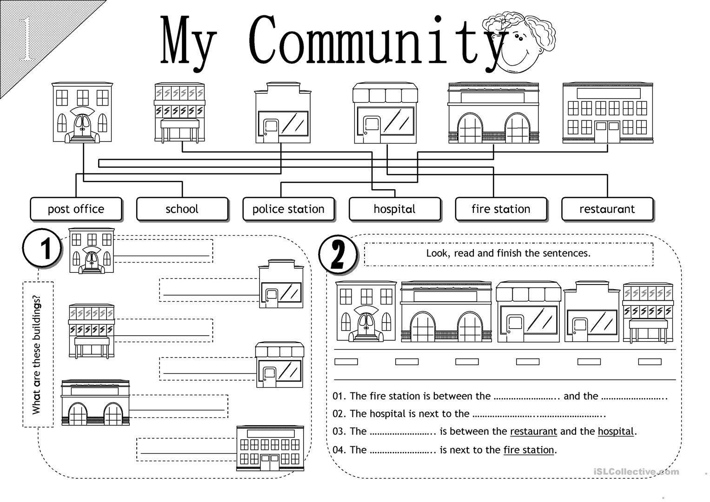 Image result for community worksheets   Social studies worksheets [ 1080 x 1527 Pixel ]