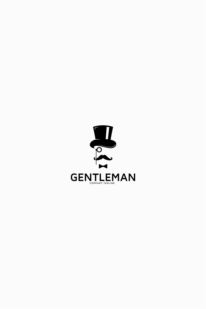 gentleman hipster logo template design bundle pinterest logo