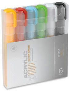 Montana Acrylic Paint Marker 6 Set 2mm ...