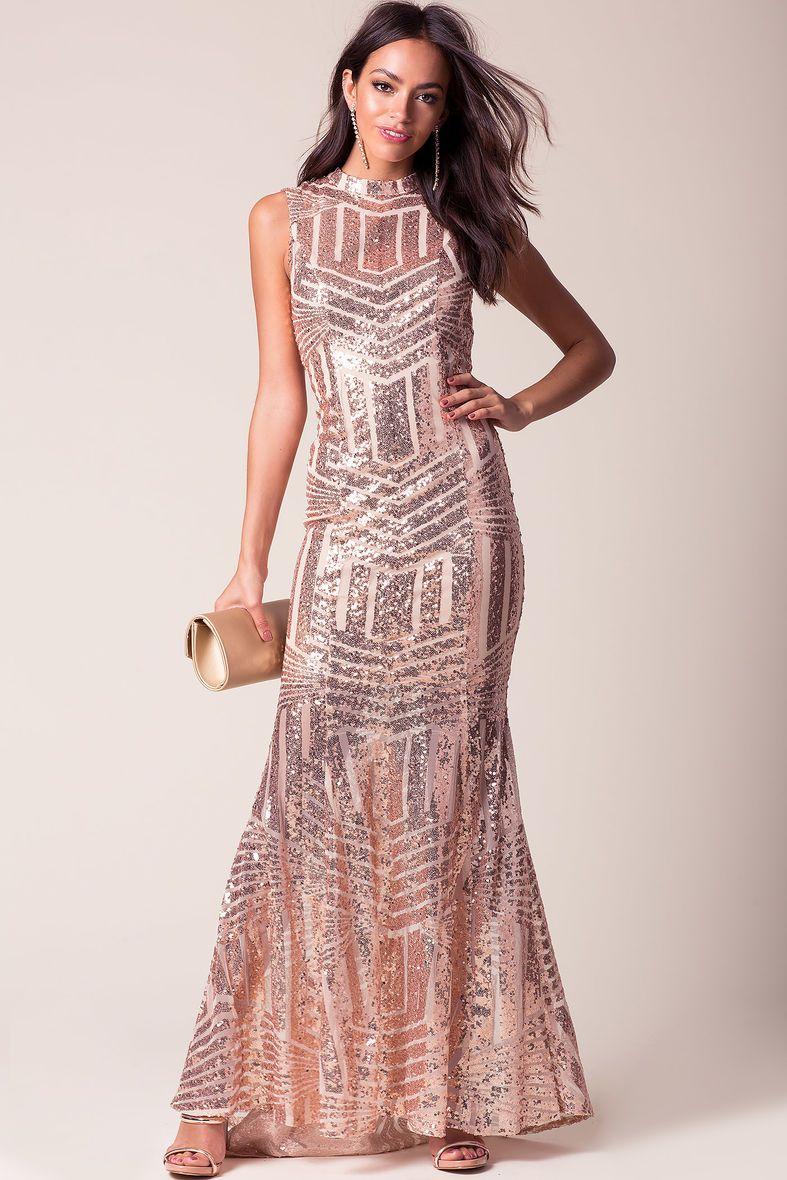 Luna Sequin Gown | Boutique Five | Pinterest | Sequins, Gowns and ...
