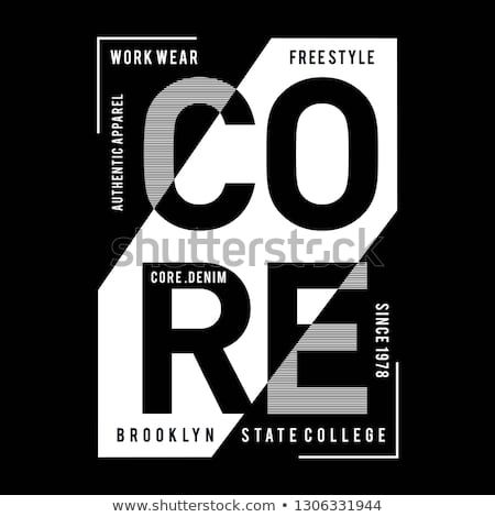 Design vector typography core denim for t shirt,vector illustration black and white #teedesign