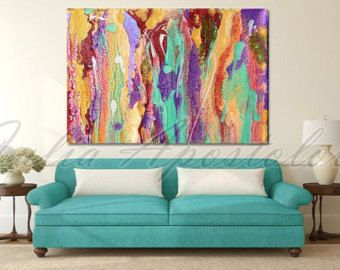 The Original Contemporary Floral Abstract painting Dreaming of Spring is available at ARTFINDER. https://www.artfinder.com/product/floral-abstract-art-colorful-flower-painting-spring-landscape-h/ If you are interested, please contact to me and I will make an offer and list a private listing to you here, in Etsy.  PRINT OPTIONS: - No Wrap - Rolled In A Tube. The Print came in your place Rolled in a Tube and will need a frame or stretching. - Gallery Wrap (Mirrored or White Sides) A clean…