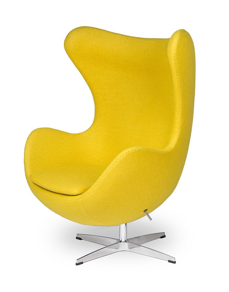 egg sessel in gelb yellow egg chair by arne jacobsen in m bel wohnen m bel sofas sessel. Black Bedroom Furniture Sets. Home Design Ideas