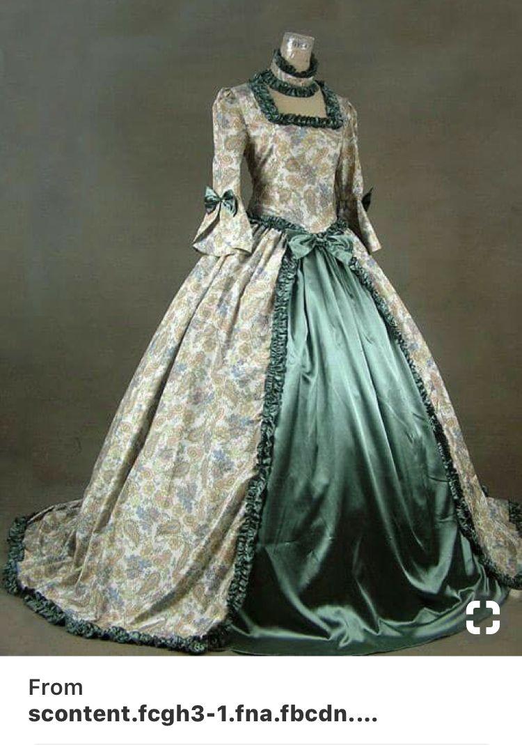 idea for batmizva dress theme 1800 | rokoko kleider