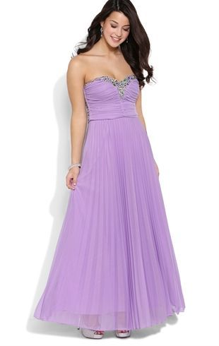 Deb Prom Strapless Long Prom Dress With Stone Trimmed Sequin
