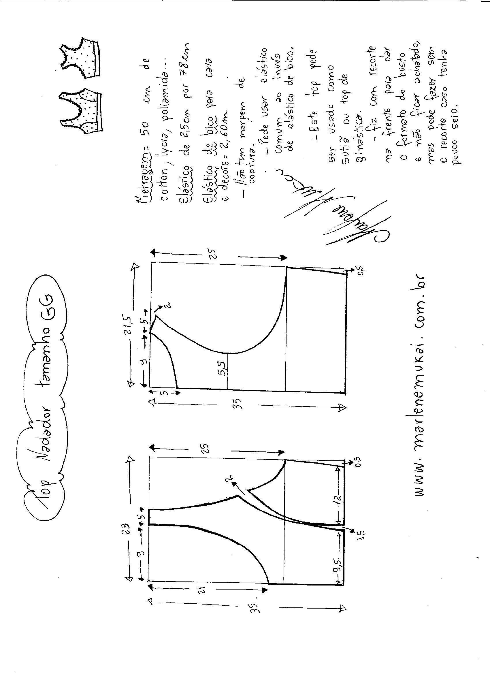 Patrón de Top para Gimnasio | Patrones, Crochet and Patterns