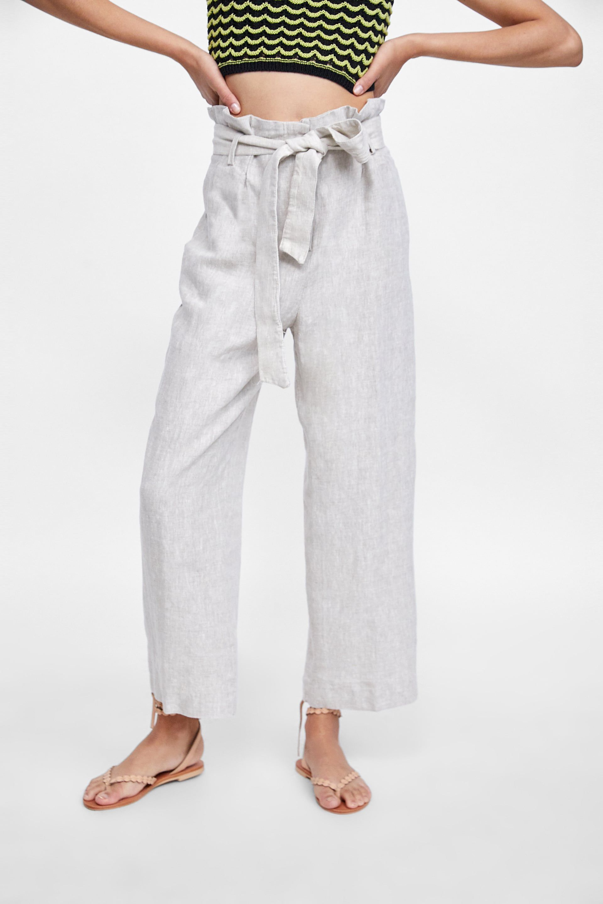 72a7d491 Image 2 of LINEN PANTS WITH BELT from Zara | Clothes | Linen ...