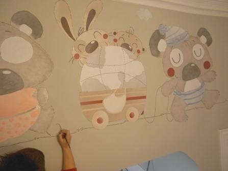Murales infantiles pintados a mano de lydia tudela - Murales pintados a mano ...