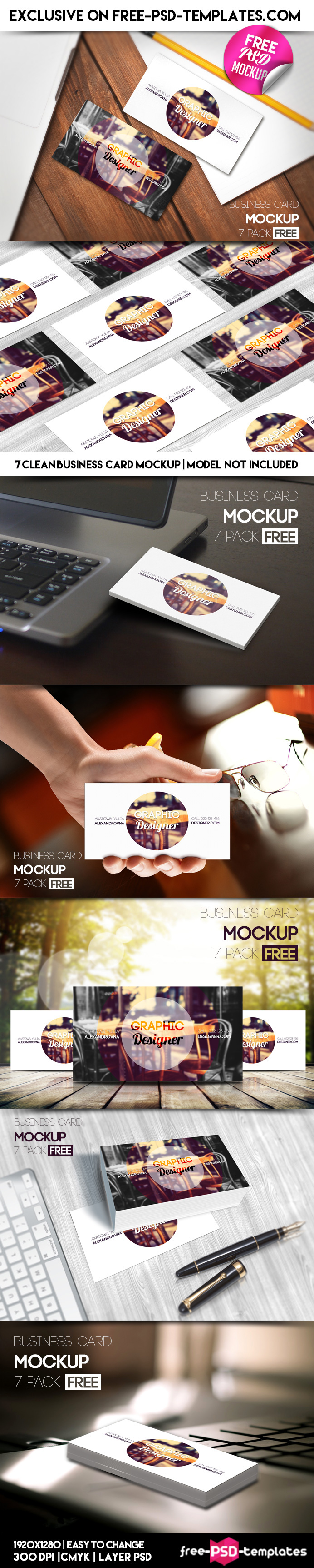 this very beautiful and elegant free psd business card mockup is