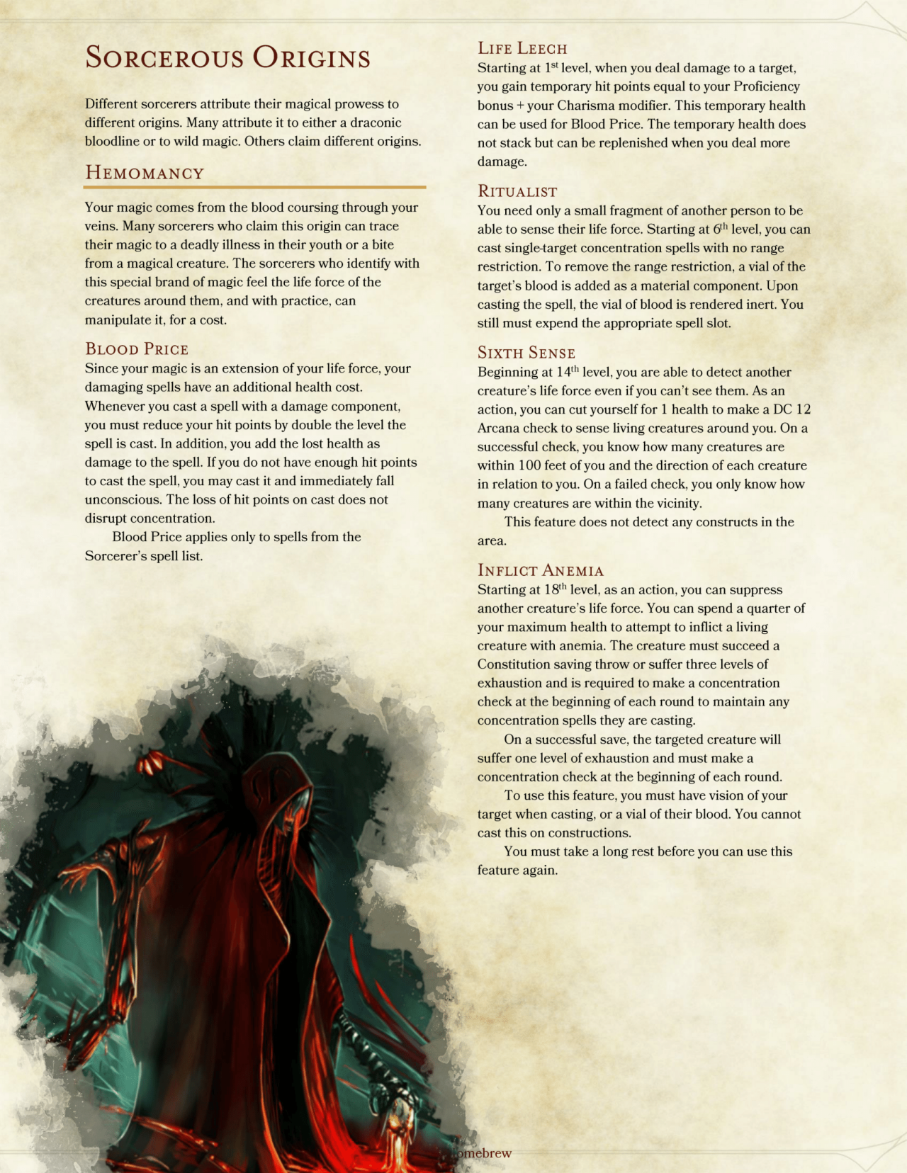 DnD 5e Homebrew — Class Pack Part 2 by AshenGT / BoltNine Homebrew