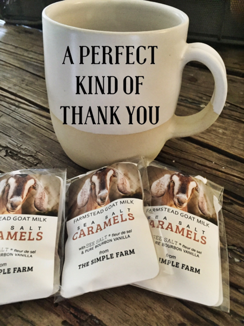 "It's time to say, ""Thank You"" and I will go first. — THE CARAMEL SHOP"