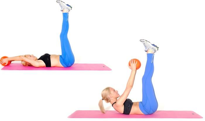 Image result for medicine ball crunches