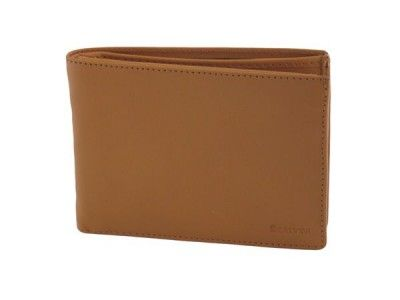Calfskin man's wallet color pastel orange