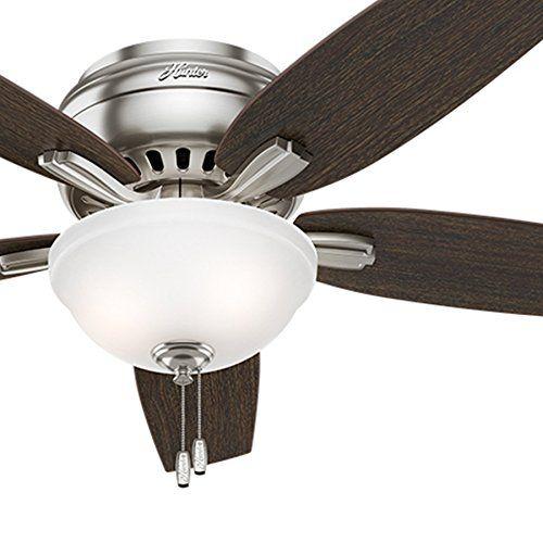 Hunter Fan 52 Quot Hugger Ceiling Fan In Brushed Nickel With