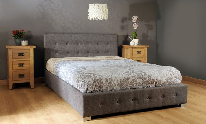 Superb Groupon Goods Global Gmbh Fabric Ottoman Storage Bed Frame Gmtry Best Dining Table And Chair Ideas Images Gmtryco